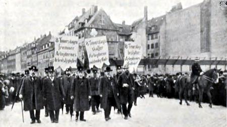 Arbejderdemonstration med krav om 8 timers arbejdsdag