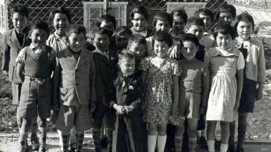 Børnene fra Grønlandseksperimentet ved Dansk Røde Kors' børnehjem i Nuuk