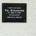 Mindetavle for Th. Stauning